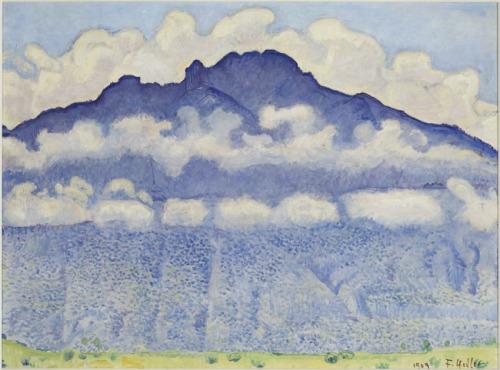 Hodler - La pointe d'Andey, vue de Bonneville (Haute-Savoie) (1909).