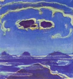 Holder - L'Eiger, le Mönch et la Jungfrau au clair de lune, 1908