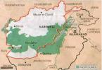 Implantation des Pachtounes en Afghanistan et au Pakistan (Le Monde)