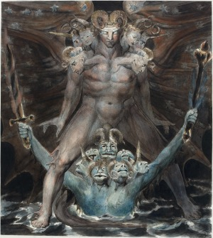 William Blake - The Great Red Dragon and the Beast from the Sea