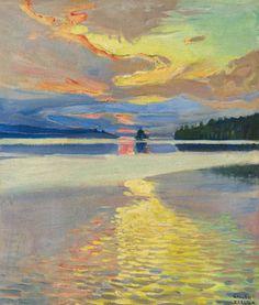 Akseli Gallen-Kallela - Sunrise over Lake
