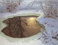 Gustaf Fjaestad - Paysage d'hiver