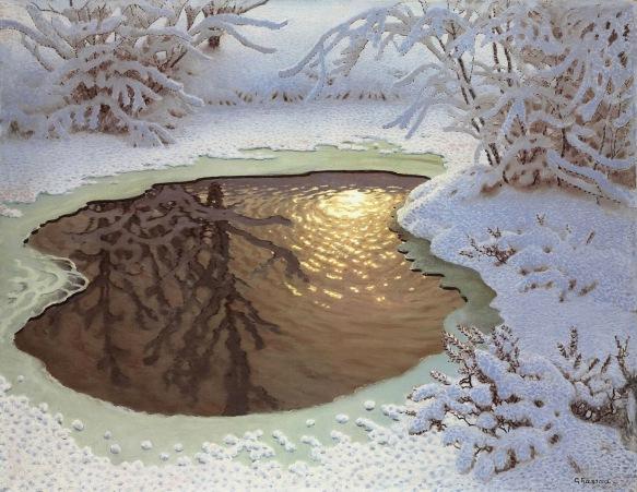 Зимний пейзаж_101.2 х 130_х.,м._Частное собрание