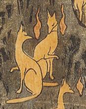 Hiroshige - « Renards de feu la nuit du Nouvel An sous l'arbre Enoki près d'Ōji » (détail 2)
