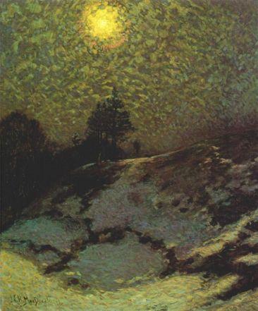 JEH MacDonald - Early Evening Winter, 1912