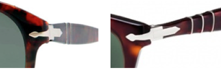 marque Persol - Flèches suprêmes du  modèle classique légendaire 649 et du modèle de la ligne Capri