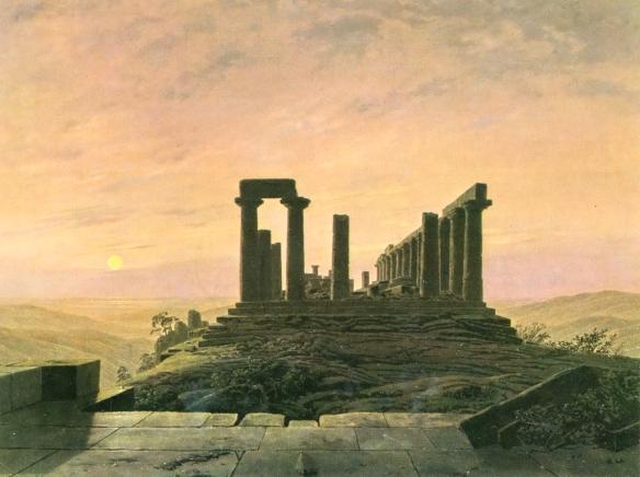 Caspar David Friedrich - Temple de Junon à Agrigente, vers 1828-1830