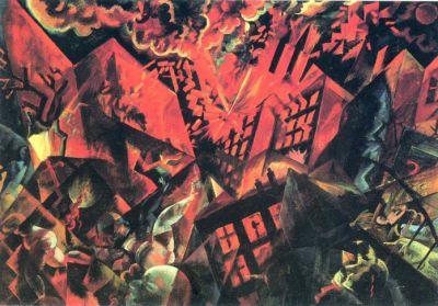 George Grosz - Explosion, 1917