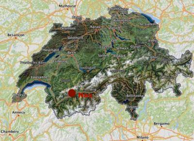 commune de Nax dans le Val d'Hérens (Valais) en Suisse