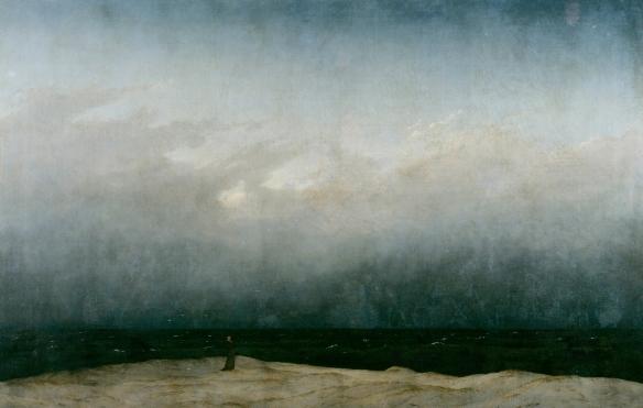 Caspar David Friedrich - le moine au bord de la mer, 1808-10