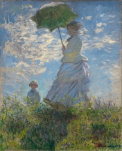 Claude Monet - Femme avec son parasol, Mme Monet et son fils, 1875 (Google Art Project).jpg