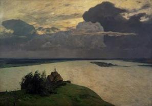 Isaac Ilitch Lévitan (1860-1900) - Au-dessus du repos éternel, 1894