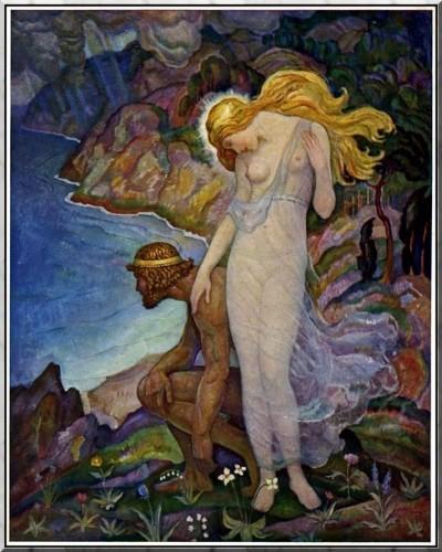 Newell Convers Wyeth - Ulysse et Calypso, 1929.jpg