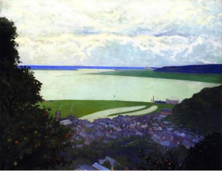 Vallotton - Vue d'Honfleur au matin, 1910