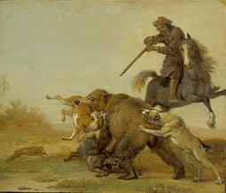 Paulus Potter - la punition du chasseur, scène 10