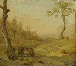 Paulus Potter - la punition du chasseur, scène 9