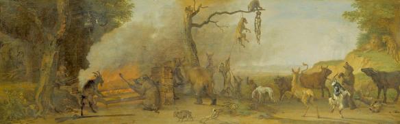 Paulus Potter - la punition du chasseur, scène 14