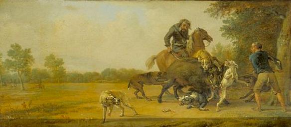 Paulus Potter - la punition du chasseur, scène 8