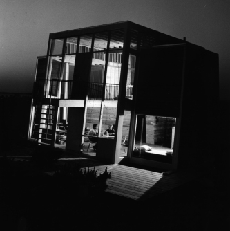Frank House, Fire Island - exterior_night