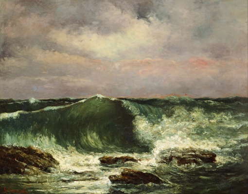 Gustave Courbet - la vague, vers 1870 - (Google Art Project)
