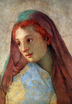 Jacopo Pontormo - Annonciation de la Vierge dans l'église de Santa Felicita, chapelle Capponi à Florence, détail