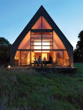maison passive triangulaire à Auvilliers (Normandie) - architecte Jean-Baptiste Barache