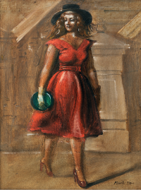 Marsh - Untitled (Lady in Red), 1950-1951