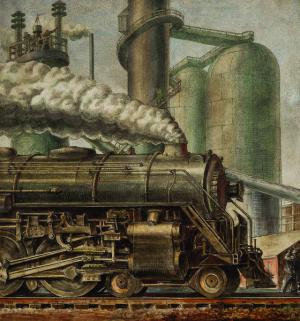 Reginald Marsh - La Locomotive, 1935