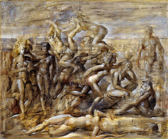 Reginald Marsh - Coney Island Beach, 1951