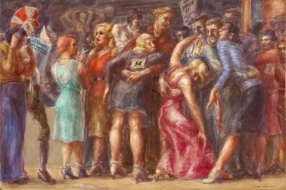 Reginald Marsh - Marathon de danse de Zeke Youngblood, 1932