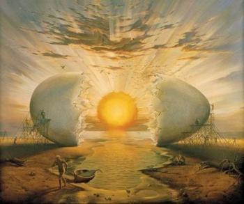 Salvador Dali - Jaune d'œuf soleil, 1955