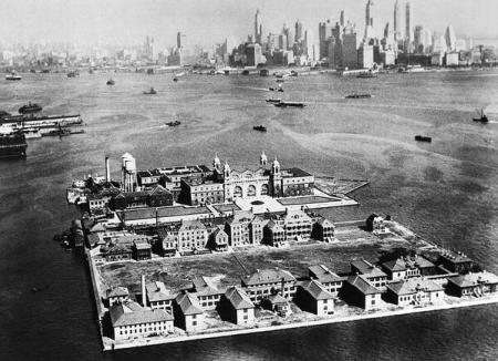 The American immigration portal of Ellis Island, New York City, 1933-