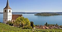 lac de Bienne avec l'île Saint-Pierre