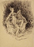 Whistler - a girl dancing, 1900