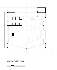 A-frame house à Fire Island (NY) - Rez-de-chaussée - Bromley Caldari Architects