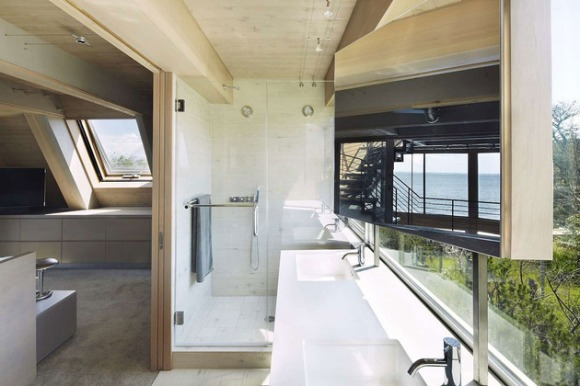A-frame house à Fire Island (NY) - autre salle de bains