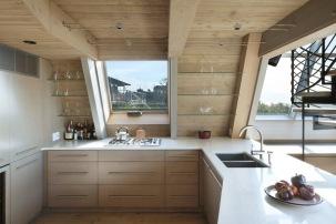 A-frame house à Fire Island (NY) - espace cuisine
