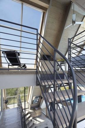 A-frame house à Fire Island (NY) - mezzanine du niveau 1