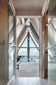A-frame house à Fire Island (NY) - Salon à l'étage
