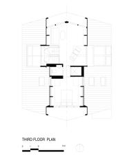 A-frame house à Fire Island (NY) - Plan du niveau 2 - Bromley Caldari Architects