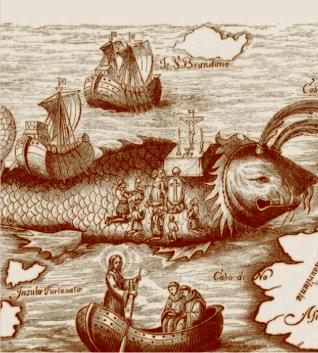 L'Île baleine de saint Brandan - Honorius Philoponus [Caspar Plautius], Nova typis transacta navigatio novi orbis Indiæ occidentalis... Linz, 1621