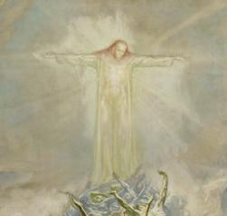Jean Delville - l'Homme Dieu, esquisse (détail), 1900