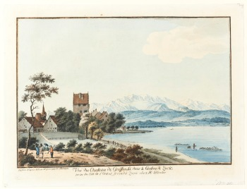 Heinrich Thomann (1748-1794) - Vue du Château de Greifensee