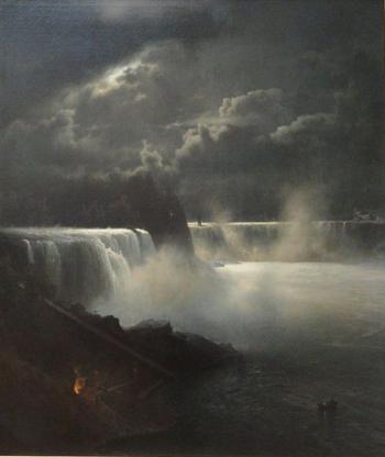 Herman Herzog -Clair de lune sur les chutes du Niagara, 1872