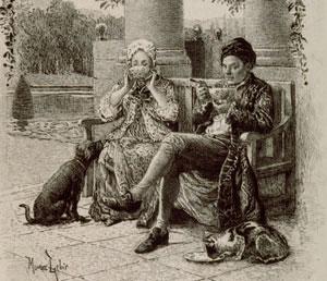 Illustration Maurice Lenoir - Thérèse et Jean-Jacques au petit déjeuner - © Collection Jean-Jacques Monney