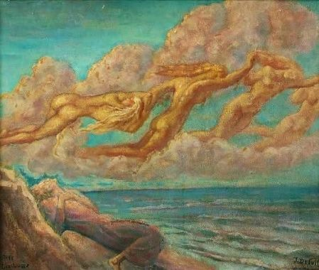 Jean Delville - flying souls