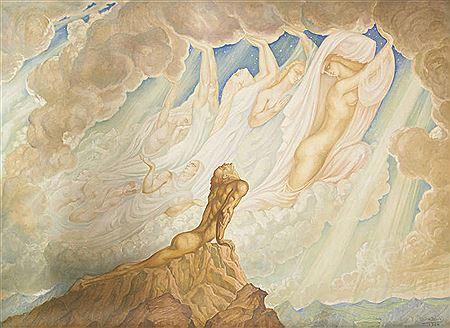 Jean Delville - Le Paradis terrestre