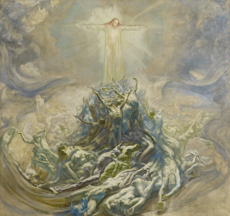 Jean Delville - l'Homme Dieu, esquisse, 1900