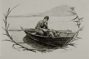 Jean-Jacques Rousseau seul avec son chien