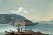 Johann Joseph Hartmann - Vue de l'Ile Saint-Pierre vers 1790
